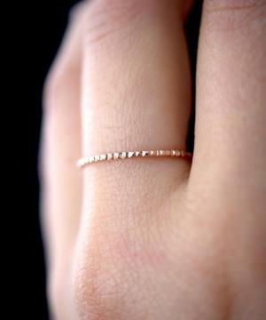 Rose Gold Lined Ring