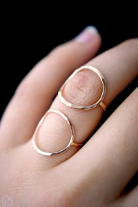 Rose gold Circle Rings in thick or thin