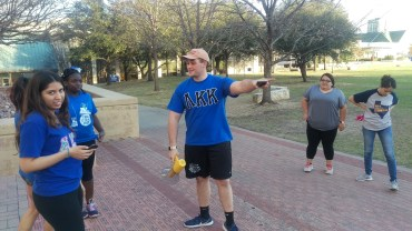 John Robert starts the round to determine fourth place in capture the flag. Photo by Hannah Onder