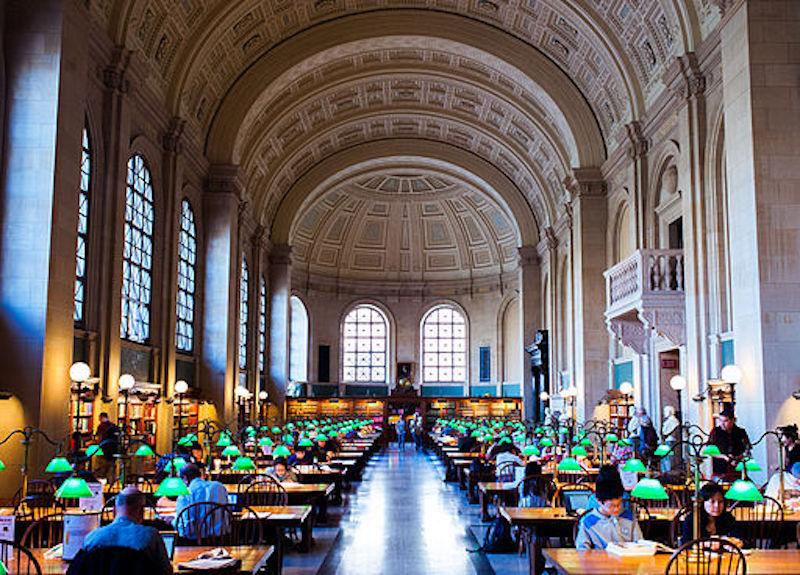Boston Public Library Reading Room by Rafael Guastavino