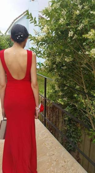 My Prom Dress from the Back