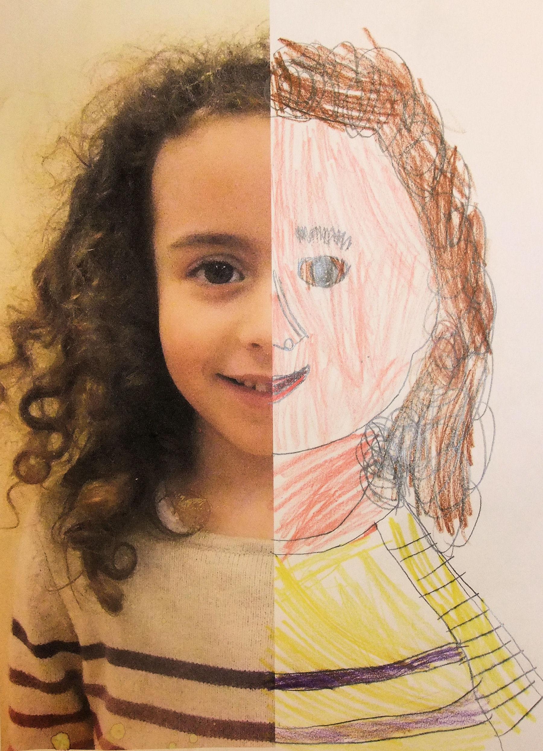 Half Self Portraits 2 February Hannah S Art Club