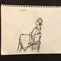 |Eve | Charcoal on Paper | By Hannah Vandagrift|