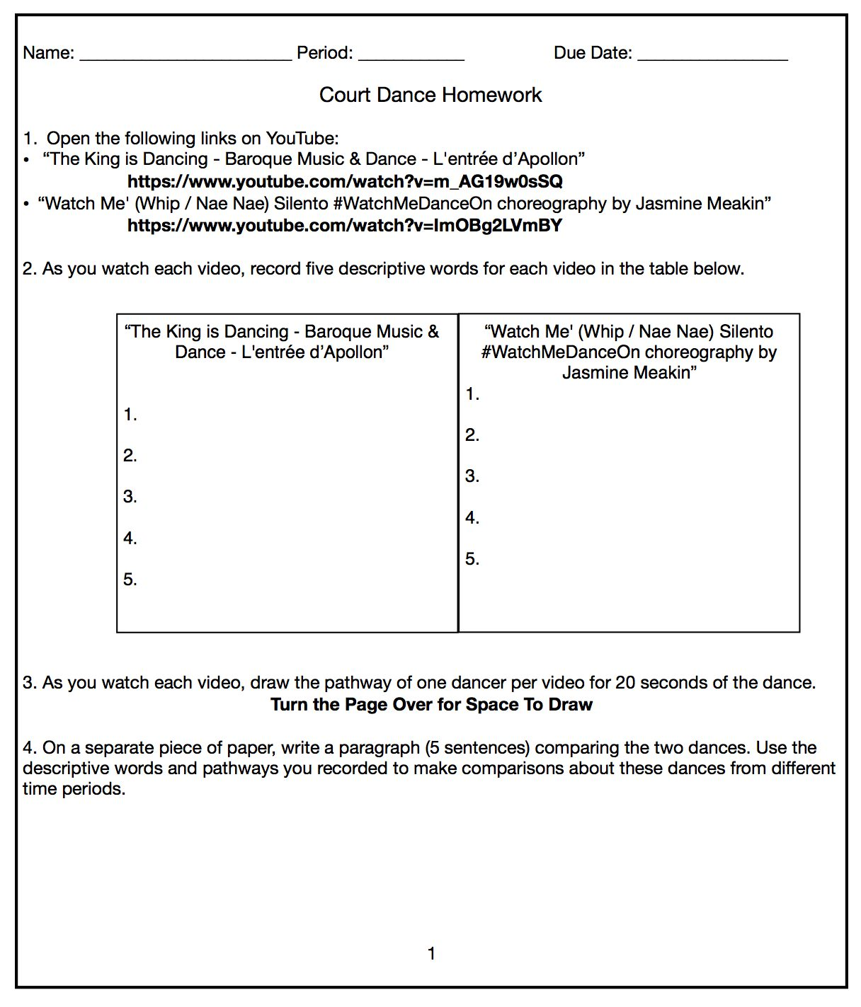 Sample Worksheets And Artifacts Hannah Sego