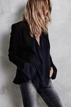 Le-Fashion-Blog-Hunky-Dory-FW-AW-2105-Lookbook-Blazer-Crepe-Silk-Shirt-Dark-Wash-Skinny-Jeans