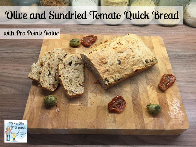 Olive and Sundried tomato quick bread