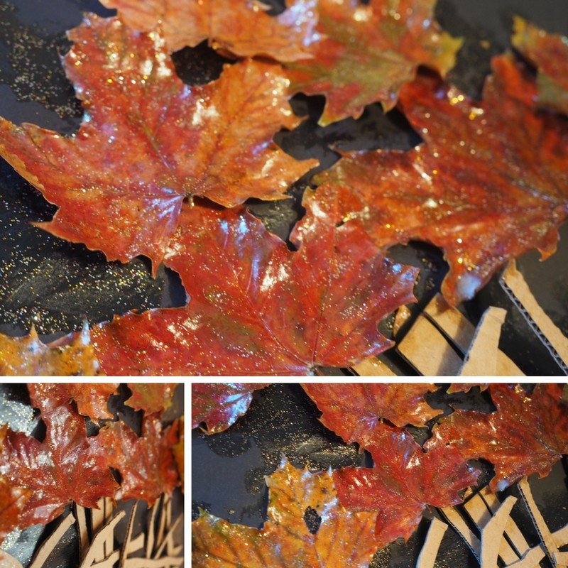 autumn bonfire collage