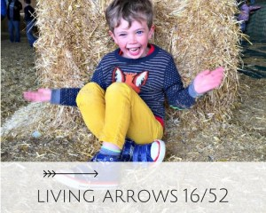 Living arrows is a weekly linky of pictures. A moment from our life This week: Excitement