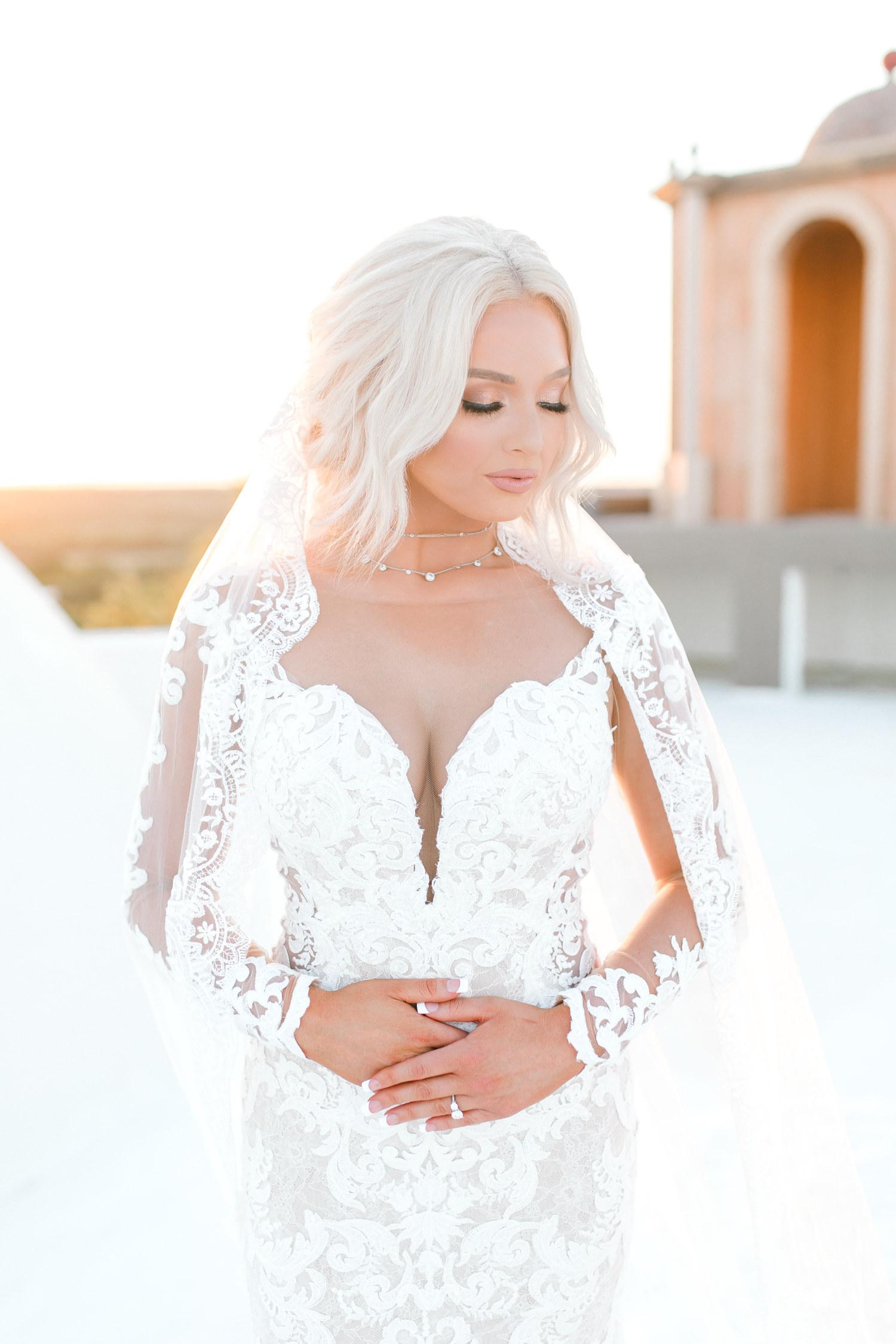 Bridal session, Hannah Way Photography, stoney ridge villa, Dallas wedding photographer, dfw wedding photographer, luxury wedding, luxury wedding photographer, wedding dress with sleeves, lace wedding dress