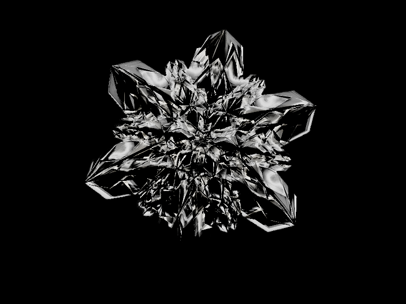 3D model of snow flake