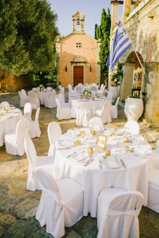 Elegant luxury wedding in rustic estate in Crete