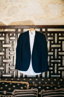 Groom's attire and details photographed during destination wedding in Crete.