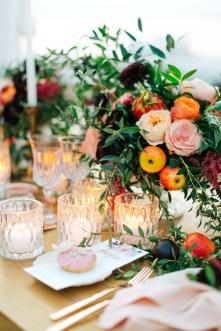 Wedding table decoration set up in Mykonos island, Greece.