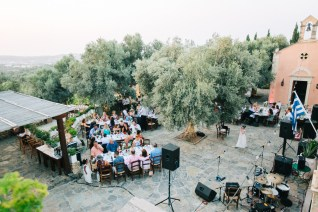 Destination wedding reception party in Agreco Farm, Crete.