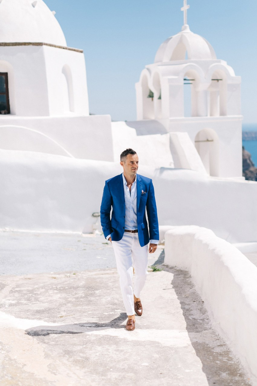 Santorini groom's portrait.