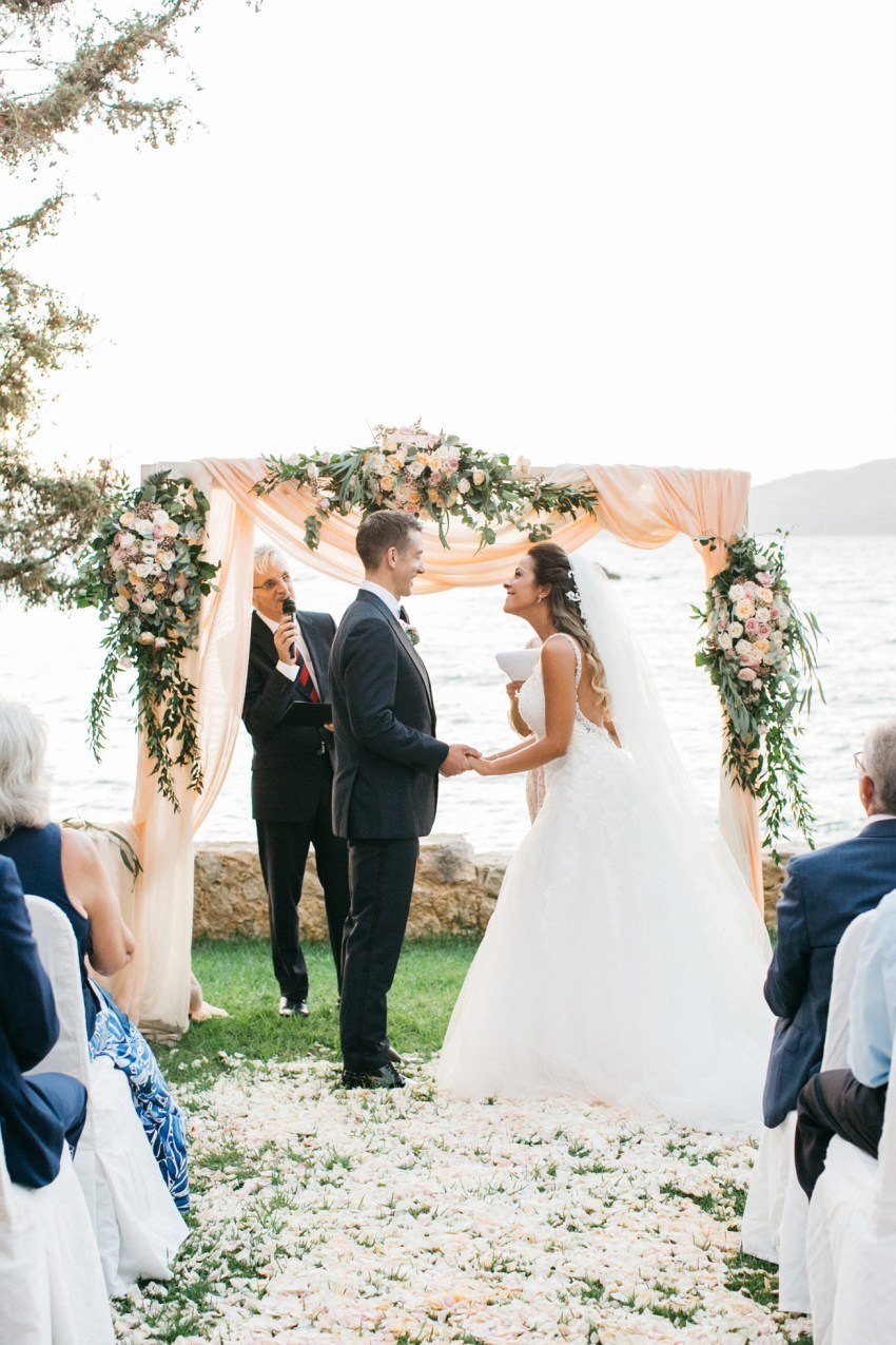 Destination wedding in Chania Crete - classy international couple getting married.