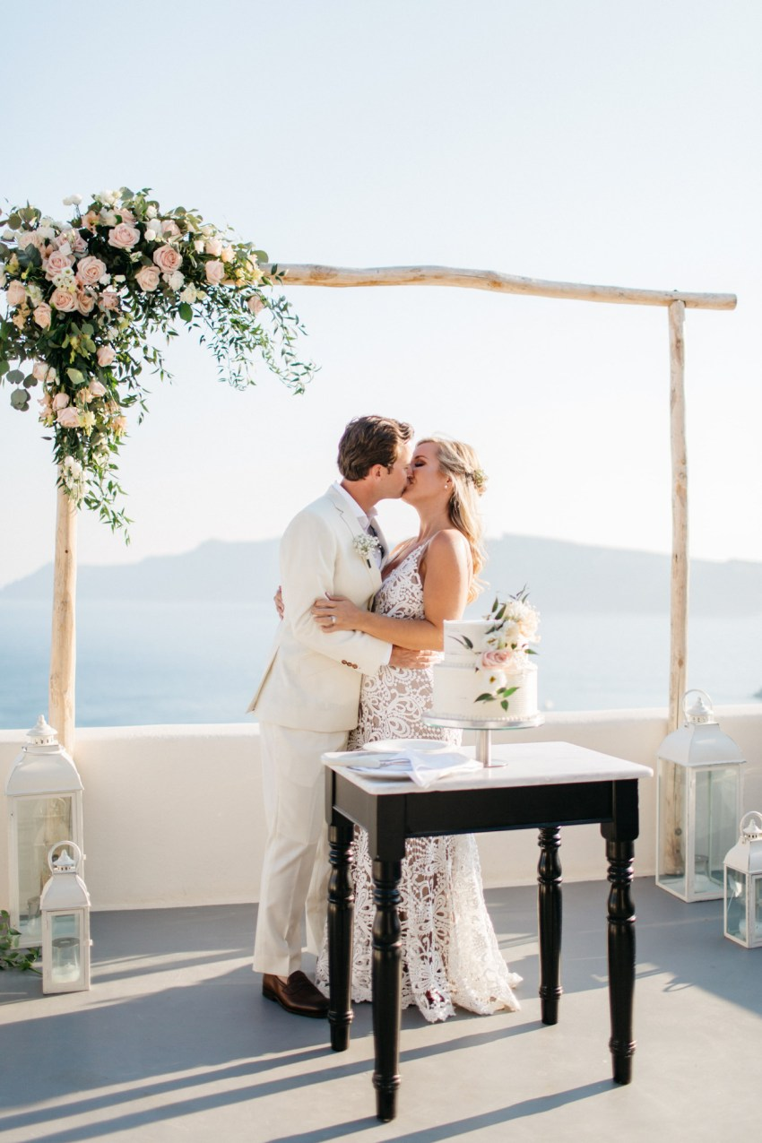 Beautiful wedding ceremony in Canaves Suites Oia Santorini.
