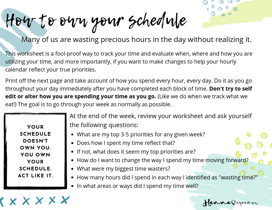 Time Management Worksheet