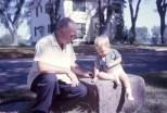 Carl F. Hanneman with grandson David Carl Hanneman, circa 1965.