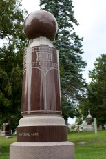 One of the largest monuments at St. Mary's Cemetery, Portage, Wis.