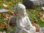 Cherubs often watch over the graves of little ones.