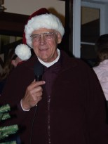 Mayor Hanneman dressed for the city's annual Christmas tree lighting ceremony.