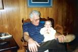 Late Grandpa Dave Hanneman holds Stevie in 1992.