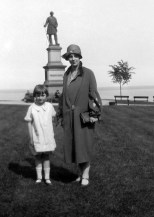 Ruby Treutel and younger sister Elaine at Solomon Juneau Park in Milwaukee in 1924.