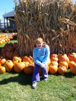 Samantha Hanneman at Swan's Pumpkin Farm in 2004.