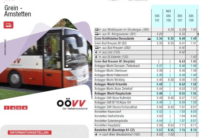 Buslinie-Grein-Amstetten