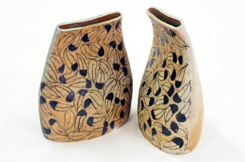 Ceramic Feather Vases