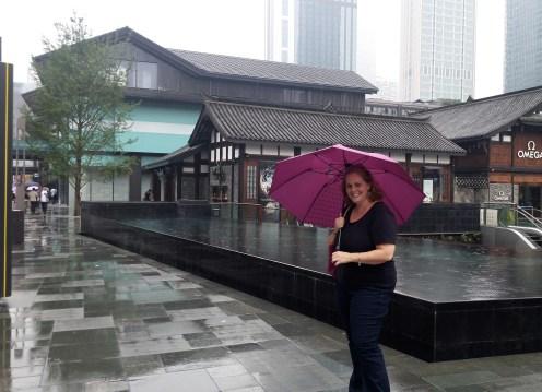 Taikoo Li on a rainy day