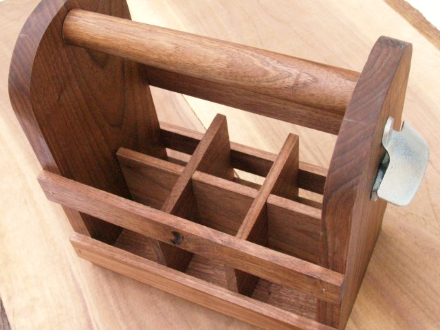 Wooden six pack holders