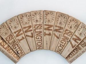 wooden beer tap handles