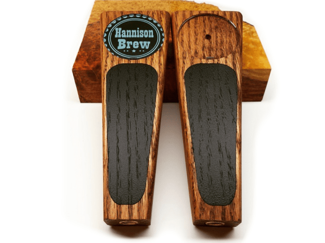 Chalkboard beer tap handle with design window