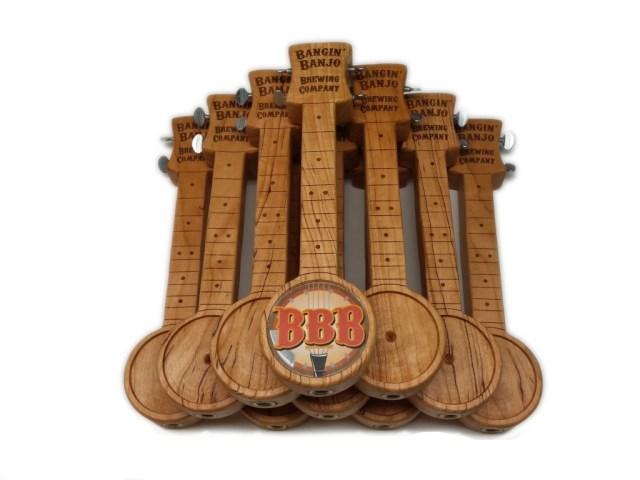 Bangin' Banjo Brewery tap handles