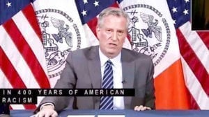 BILL BAFFLES: De Blasio Says BLM Murals Don't Need Permits Because the Issue 'Transcends all Normal Realities'