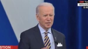 BIDEN AT TOWN HALL: 'No One Should Go to Jail for a Drug Offense,' Must Change 'Sentencing System'