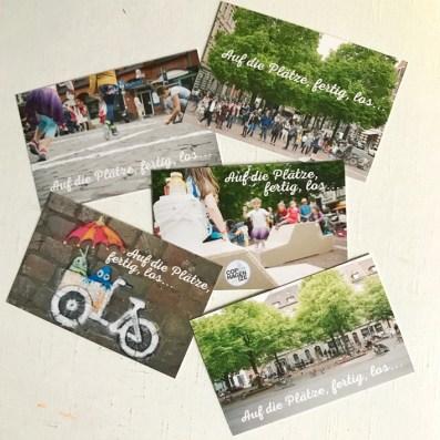 PlatzDa!-Visitenkarten Fünf Motive