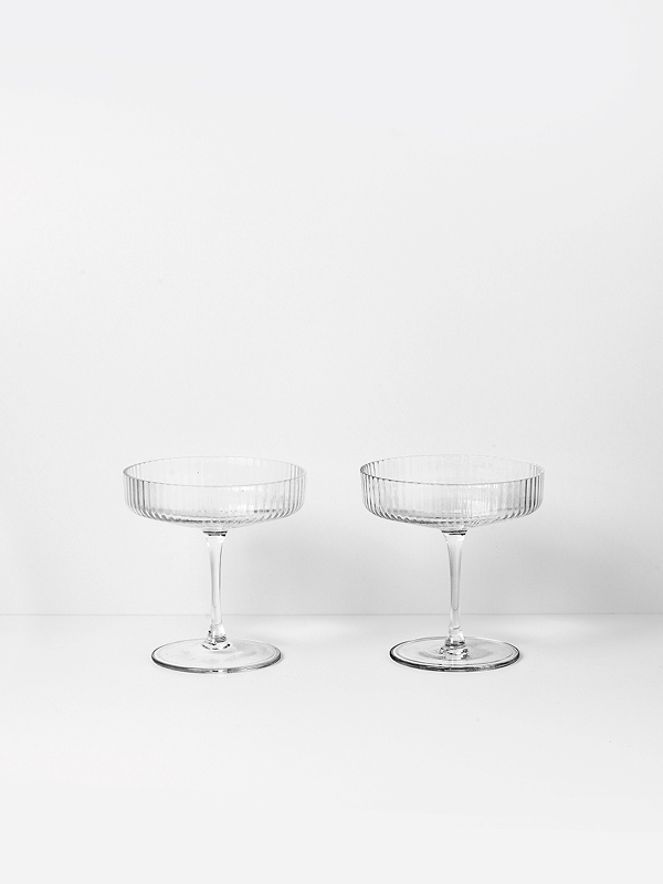 Fermliving ripple champagne saucer
