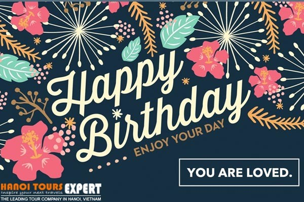 hanoi tours expert birthday card
