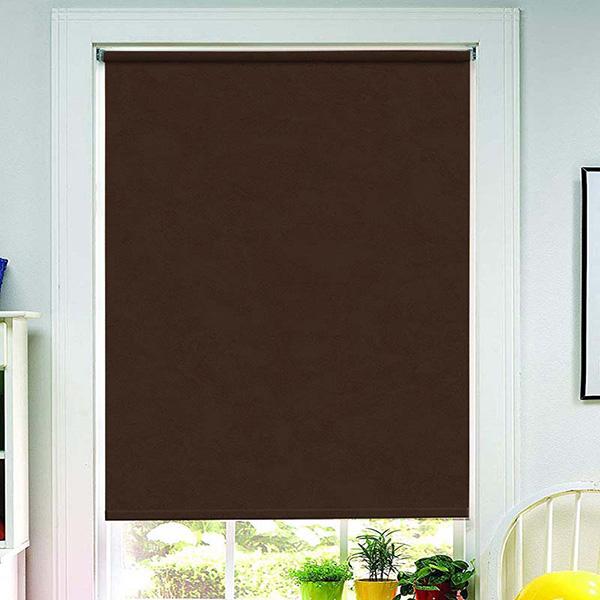 store enrouleur occultant en daim marron 60x190cm