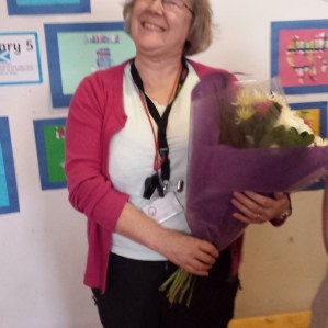 The lady who made most of it happen - our fabby Mrs Armstrong!