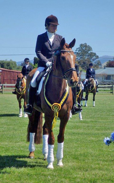 Jutta and Lauretta after winning the Wellington Dressage's Level 4 championship.