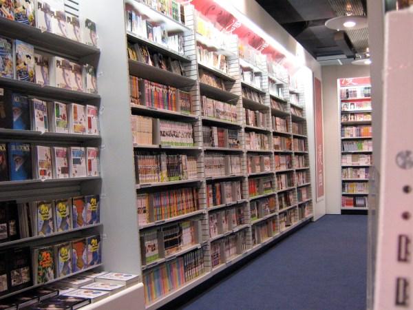 Manga Comic Book Store at La Grand Defense Paris