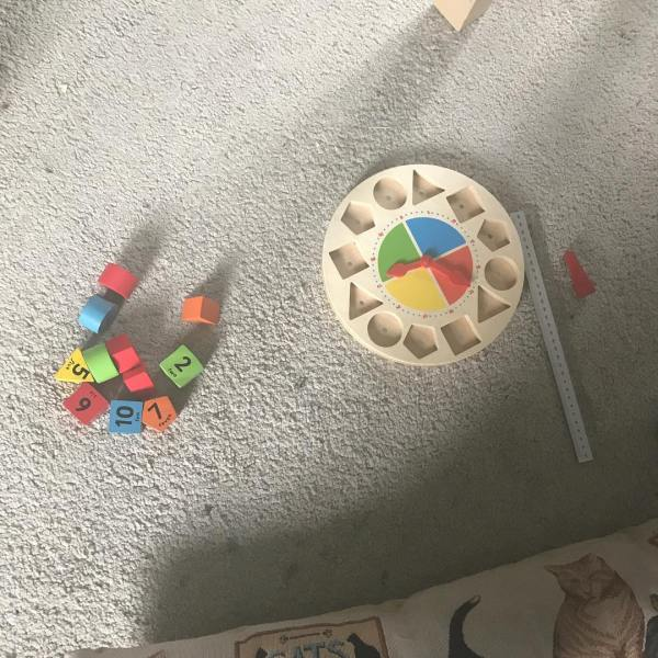 Wooden clock from Baby and Play