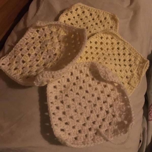 Lemon and Cream Granny Squares