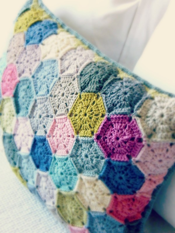 Hexagon Cushion by Sharon at Padraigin Handmade