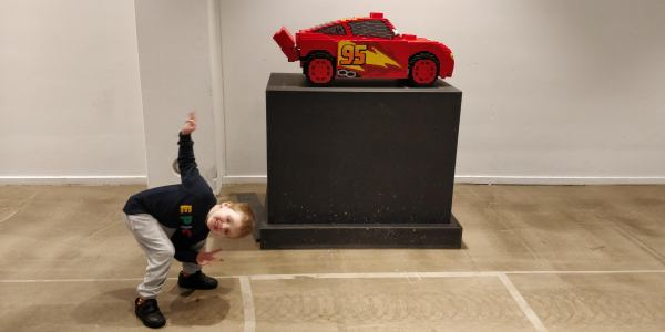 Jaxon and Lego Lightning McQueen