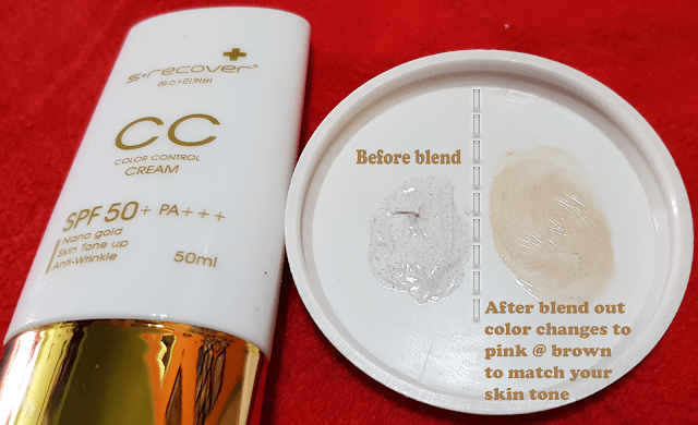 Color changing Gold Nano CC Cream
